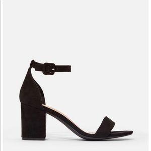 Black heels , size 10